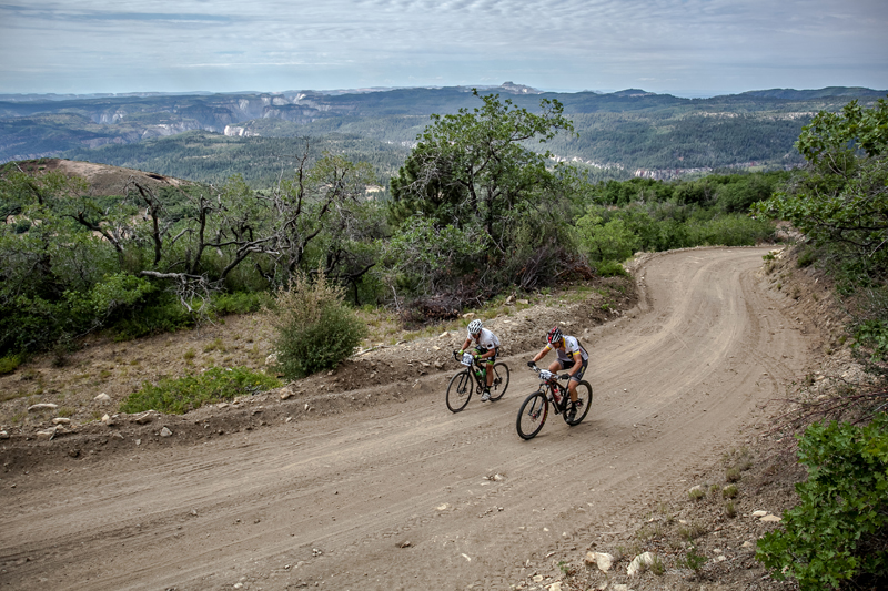 Several hundred riders start the Fire Road Cedar City. Photo: Asher Swan.