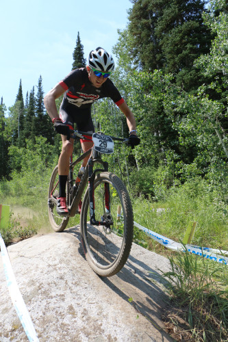 Connor Barrett topped the men's Semi-Pro field. He's riding the