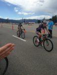 Women's race winner Shirley Leydsman leads Marci Kimball. Photo byBen Towery.