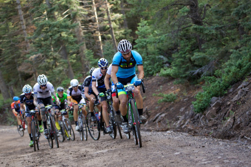 """The """"Crusher"""" features unrelenting dirt climbs that reach dizzying altitudes. This is the men's climb from the 2014 Crusher in the Tushar. Photo byCatherine Fegan Kim/Cotton Sox Photography."""