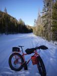 Fat Biking on the Mirror Lake Highway in Utah by Greg Steele.