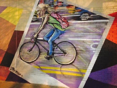 Sugarhouse Bicycle Mural 2015, Salt Lake City, Utah. Photo by Dave Iltis