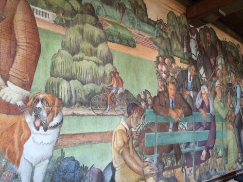 Lucien Labaudt mural. Photo by Dave Iltis