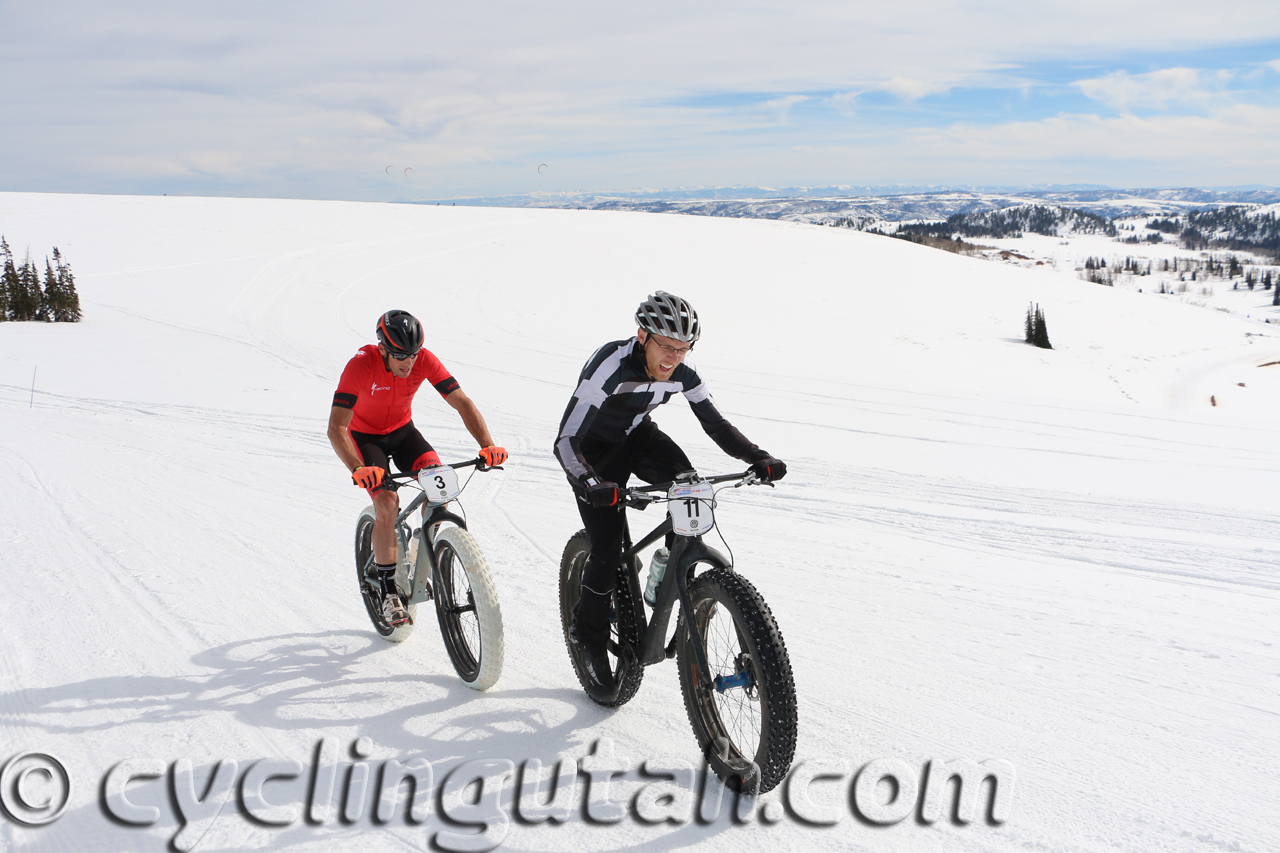 Utah's Geoffrey Montague in the pro Fat Bike National Championship at Powder Mountain on February 14, 2015. Photo by Dave Iltis