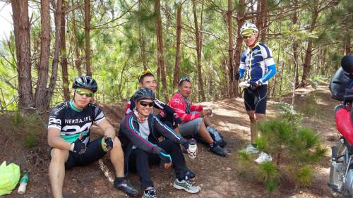 Mountain Bikers in Vietnam