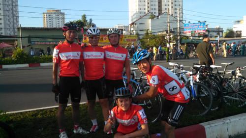 Bicycle Riders in Vietnam