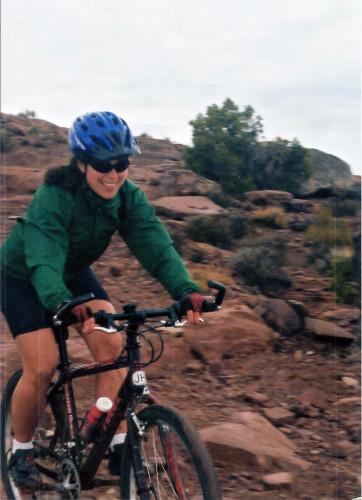 Women Mountain Biking Moab - Circa 1998