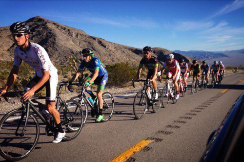Riders competing in the Mt. Charleston Hill Climb