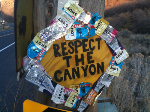 Cyclists are encouraged to keep Emigration Canyon clean. Photo by Dave Iltis