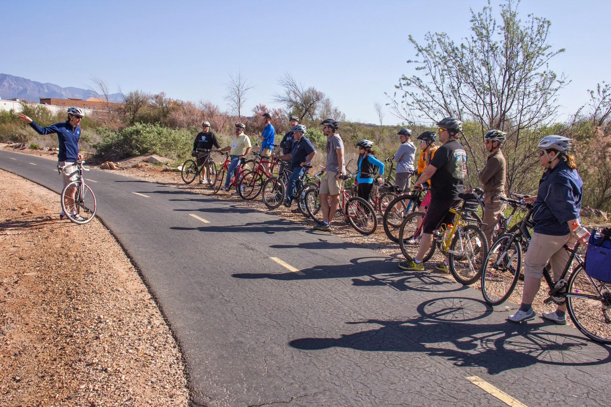 St. George MATT (Mobiel Active Transportation Tour) on April 3, 2015. Photo by Richard Brockmyer
