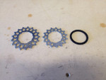 3. 17 and 15 cogs with spacer