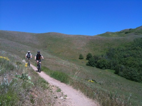 Salt Lake City needs more trails in the foothills. Riders on the Bonneville Shoreline Trail in Salt Lake City. Photo by Dave Iltis