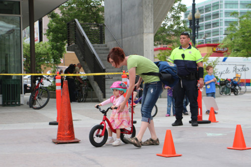 UTA's Bike Bonanza features  a kids bike rodeo, giveaways, booths, and more. Photo by Dave Iltis