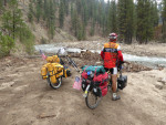 Bicycle touring middle fork Boise River