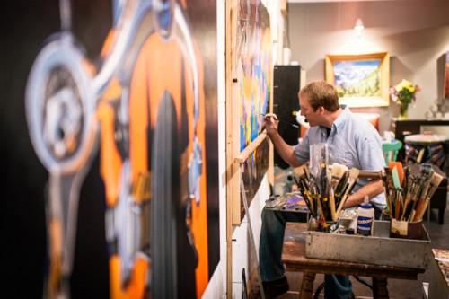 Bicycle Artist Steve Smock