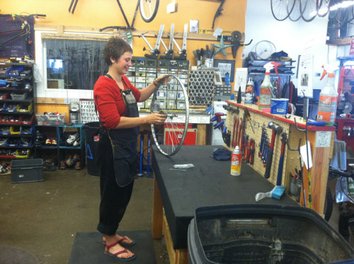 Women  bicycling industry