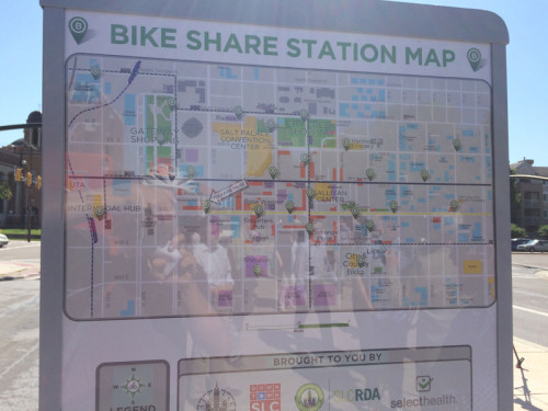Greenbike added 5 station in June 2015. Photo by Dave Iltis