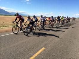 Bike riders on century ride in Utah