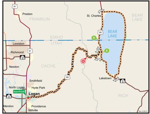 Map - Stage 1 - 2015 Tour of Utah - Logan to Logan