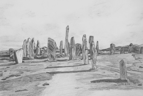 Callanish Stones Illustration by Patrick Walsh