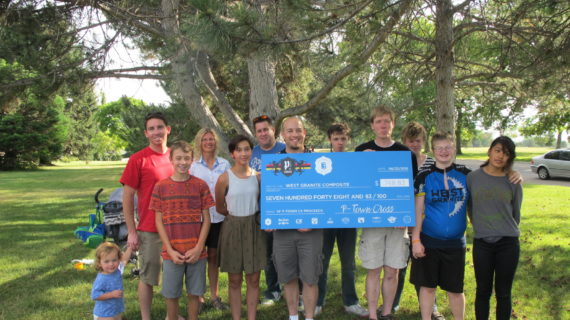 P-Town Cross Donates to West Granite Composite High School Mountain Biking Team