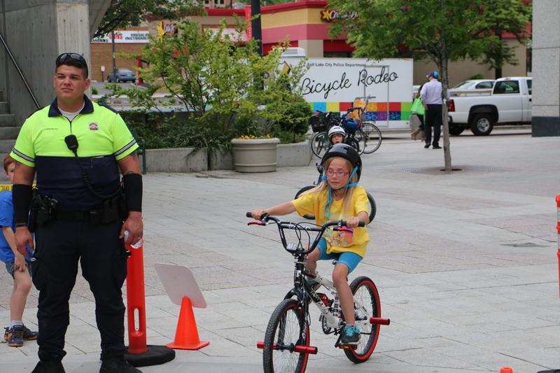 Bicycle Rodeo Instructor Trainings will be offered this summer in Salt Lake City. The Bike Bonanza, held each year, offers a bike rodeo for kids. Photo by Dave Iltis