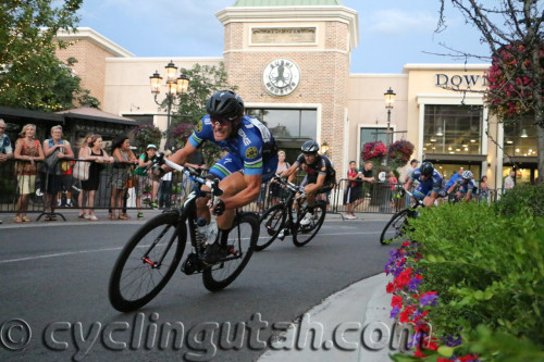 An Intermountain LiveWell rider at the front in the 2014 Station Park Criterium. Photo by Dave Iltis