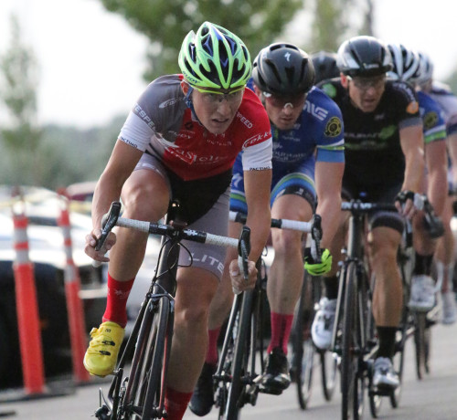 Cortlan Brown on his way to winning the 2014 Station park Criterium. Photo by Dave Iltis