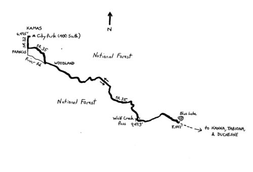The Wolf Creek Pass Challenge is 51.8 mile ride from Kamas, Utah to Blue Lake.