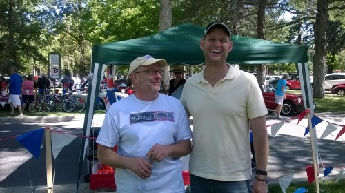 Dave Robinson, right, is running for mayor of Salt Lake City in 2015.