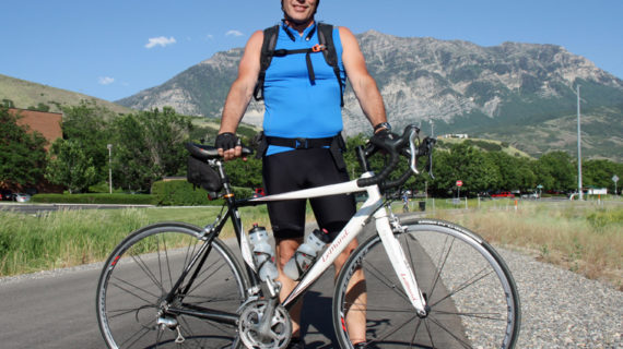 Utah Valley Cyclist Bruce Gladwin Commutes on the Murdock Canal Trail