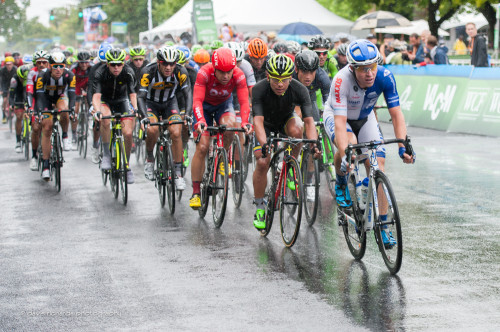 Tanner Putt (UHC) leading the charge chasing down the break, Stage 1, 2015 Tour of Utah, daverphoto.com