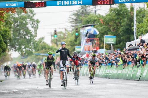 Keil Reijnen (UHC) sprints for the win on Stage 1, 2015 Tour of Utah, daverphoto.com