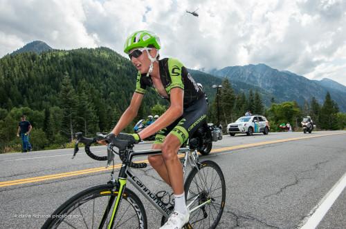 Joe Dombrowski (Garmin Cannondale) on his way to winning Stage 6 2015 Tour of Utah daverphoto.com