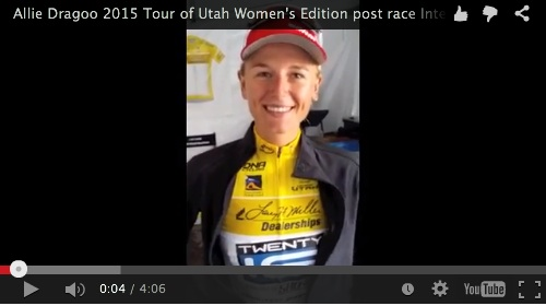 Allie Dragoo 2015 Interview after Stage 1 of the 2015 Tour of Utah Women's Edition.