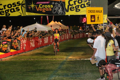 Sven Nijs topped the men's race in the 2014 edition of CrossVegas.  Photo by Dave Iltis