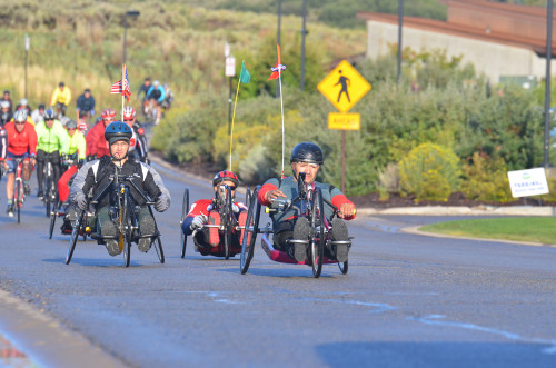 The ride provides opportunities for all abilities. Photo by Jan Drake