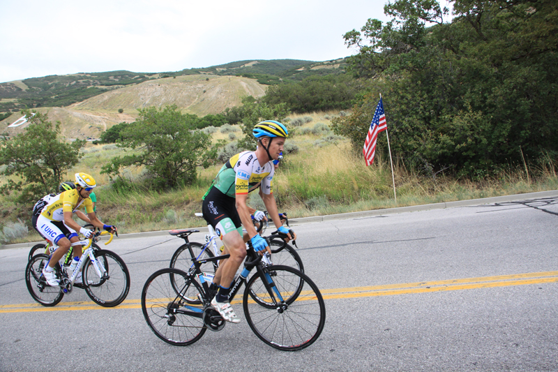Logan Owen Wins Stage 3 of the 2015 Tour of Utah in a wild sprint. Photo by Catherine Fegan-Kim