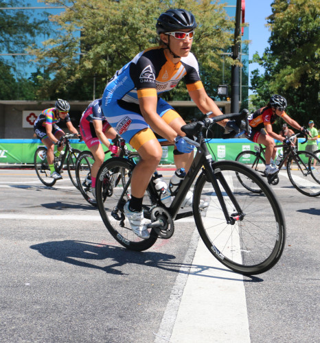 Jannalyn Luttrell will race the USA Pro Cycling Challenge in Colorado. She is  shown here in the Tour of Utah Womens Edition 2015