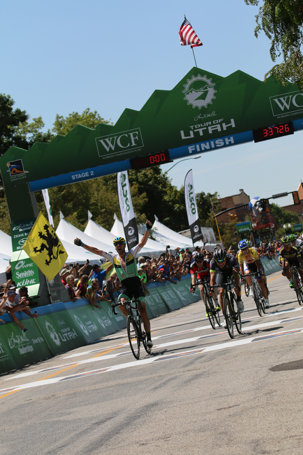 Jure Kocjan Wins Stage 2 of the 2015 Tour of Utah in a sprint finish. Photo by Dave Iltis