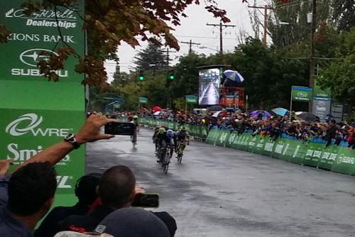 Kiel Reijnen wins stage 1 of the 2015 Tour of Utah. Photo by Mark Deterline