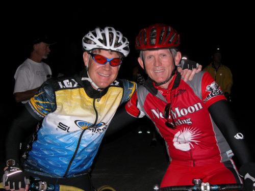 David Bern and David Ward at the start of the 2004 Lotoja.