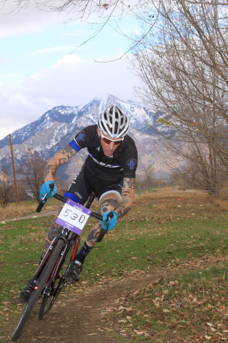 Ogden has 3 great cyclocross venues! Here, Tim Matthews races at Weber County Fairgrounds in 2012. Photo by Dave Iltis