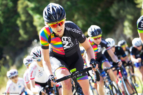 Lauren De Crescenzo (DNA Cycling p/b K4) at the Women's Tour of New Zealand