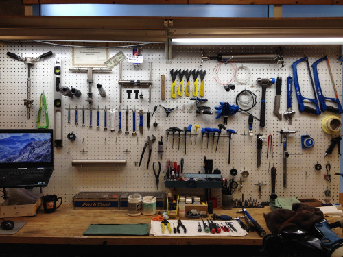 Photo 1: A work bench that is equipped for every task.