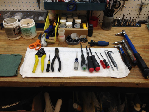 Photo 2: Tom's most used tools.