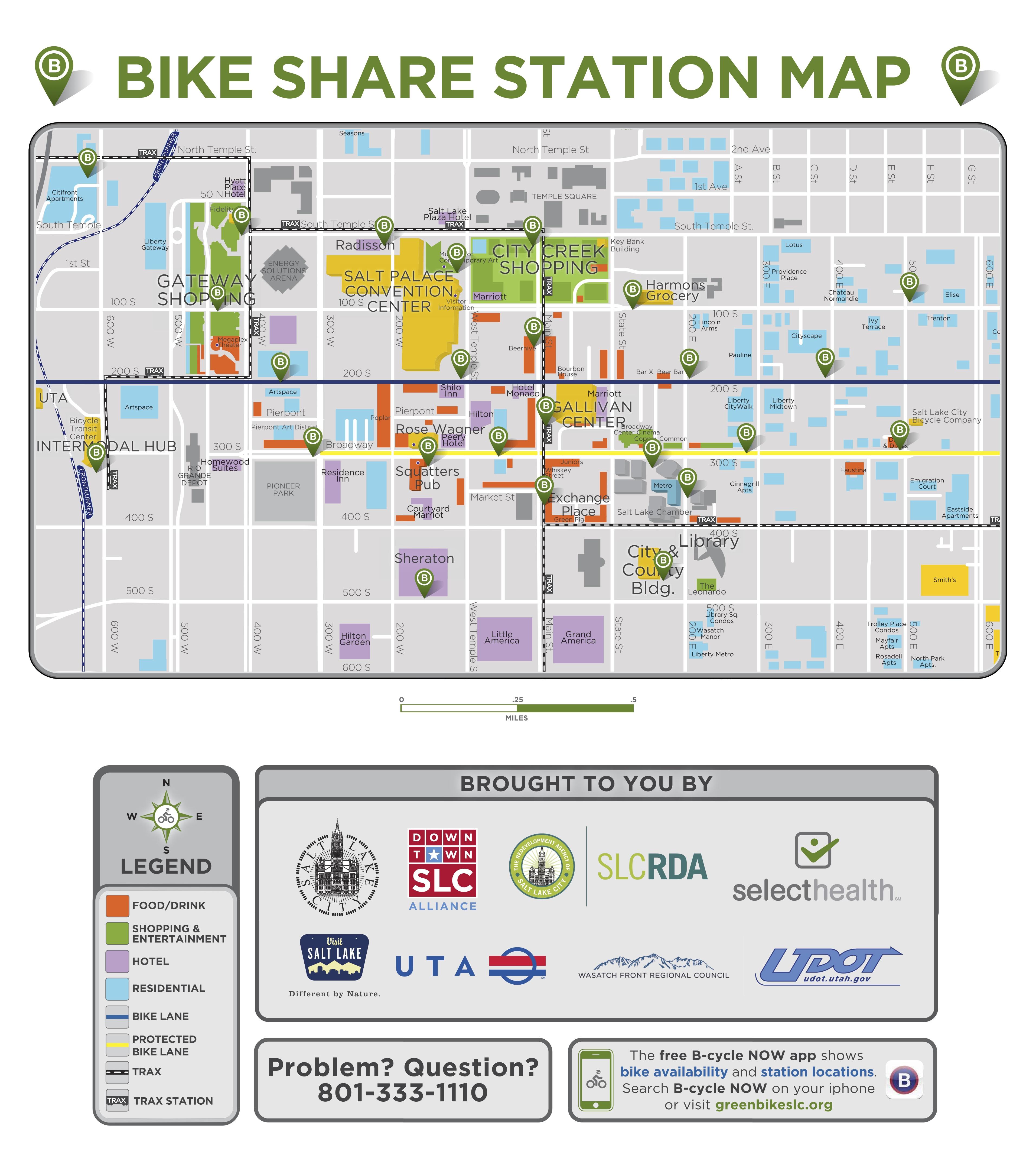 Greenbike Station Map in Salt Lake City, Utah.