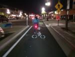 200 West protected bike lane