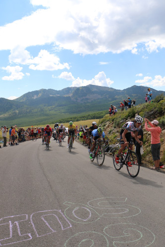 Today, the Tour of Utah announced the host cities for the 2016 edition. The 2015 Tour of Utah was won by Joe Dombrowski (yellow jersey). The lead group crests Empire Pass. Photo by Dave Iltis