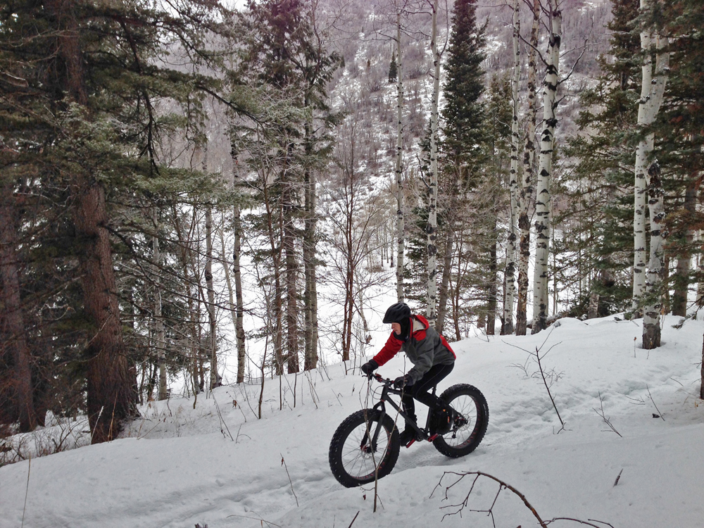 Berkley Hanks rides in Tibble Fork - American Fork Canyon. Photo by Mike Rossberg
